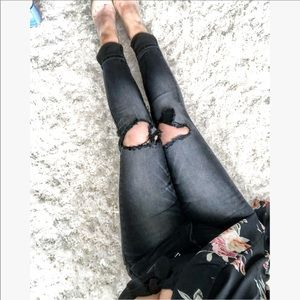 Denim - Lana Busted Knee Jeans